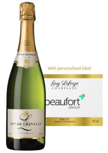 corporate bespoke branded champagne and wine
