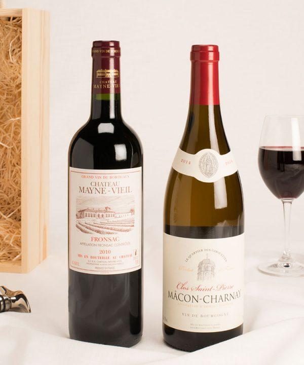 2 bottle Bordeaux & Burgundy wine gift