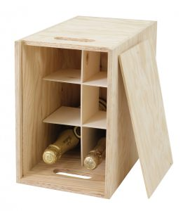 Six-bottle-wooden-crate