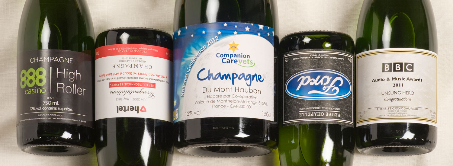 personalised wine and champagne