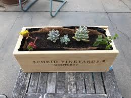 wine box planter