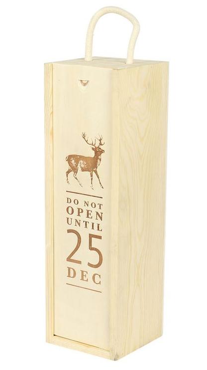 1 bottle wooden box Christmas message 1