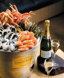 Seafood and Champagne